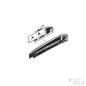 Retaining clip for U-form window channel, each - Exterior - Body part rubbers - Door seals Type 3  (XView 1-19)  - BBT Production