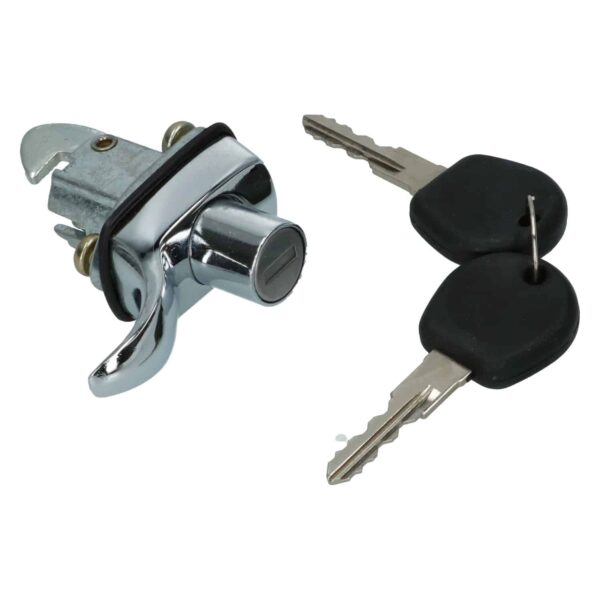 Enginelid lock W/keys - chrome - Exterior - Mirrors and latches - Latches and locks  - Generic