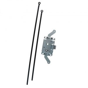 Cargo door lock mechanism with locking rods right front /left rear (TQ) - Exterior - Mirrors and latches - Latches and locks  - Silver Weld Through