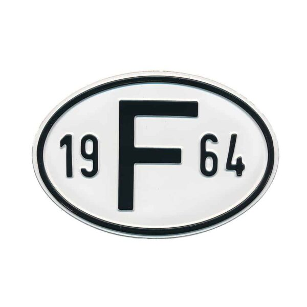 Sign F 1964 - Exterior - Plates and accessories - Country - year signs  - Generic