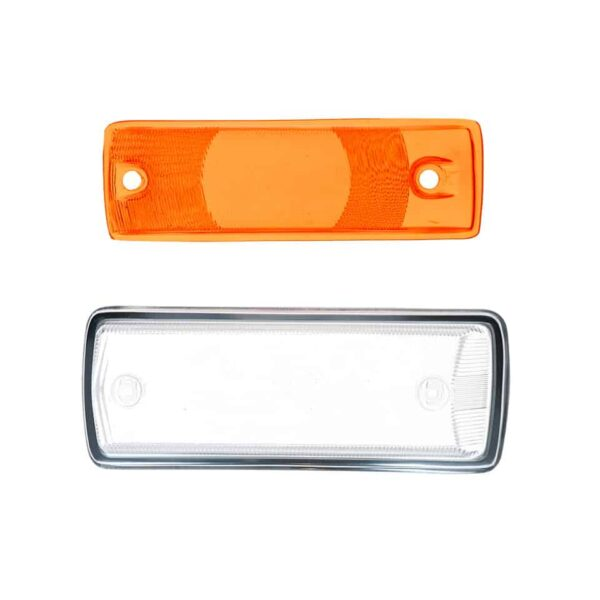 Turnsignal lens left - clear/orange with E-marking - Electrical section - Lights and indicators - Direction indicators  Bus  - Generic