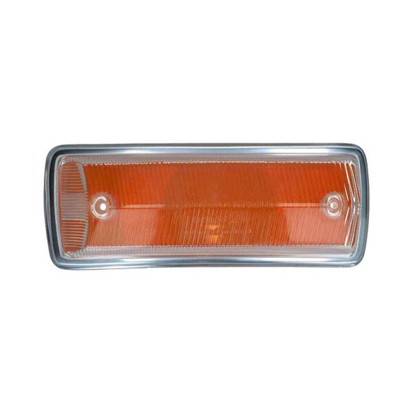Turnsignal lens right - clear/orange with E-marking - Electrical section - Lights and indicators - Direction indicators  Bus  - Generic