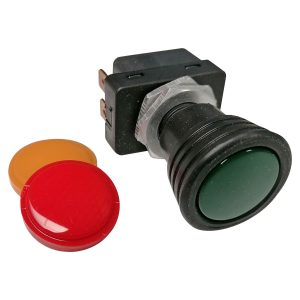 Hella on-off switch green, red or yellow - Electrical section - Switches and apparatuses - Dashboard switches  - Generic