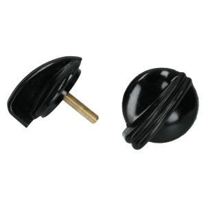 Light switch button bakelite black - pair - Electrical section - Switches and apparatuses - Dashboard switches  - Generic