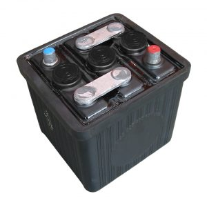 Battery 6V, 66 Ah, without acid (L 187 x B 169 x H 191) - Electrical section - Switches and apparatuses - Batteries  - Provided by BBT