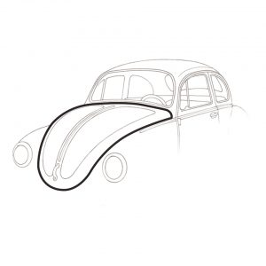 Front hood seal, superior quality - Exterior - Body part rubbers - Hood seals  Beetle/ Type 181  - Generic