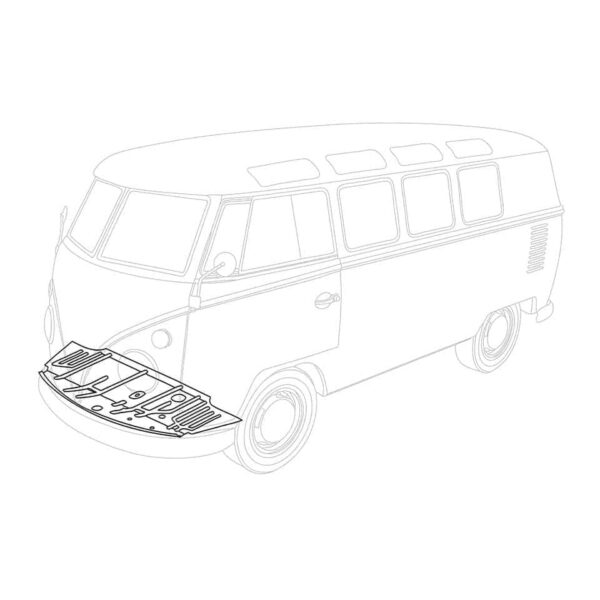 Front floor pan complete - LHD - Exterior - Body parts - Bodywork Bus, -67 Bodyparts (XView 1-05)  - Silver Weld Through