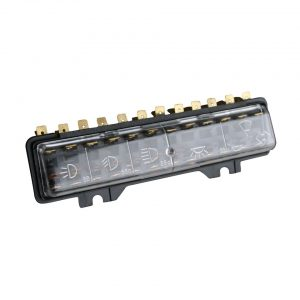 Fuse box, 12 fuses - Electrical section - Switches and apparatuses - Fuse boxes and fuses  - Generic