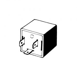 Turn signal relay 12 volt - Electrical section - Switches and apparatuses - Relays, headlights, blinkers, wipers, switch  - Generic