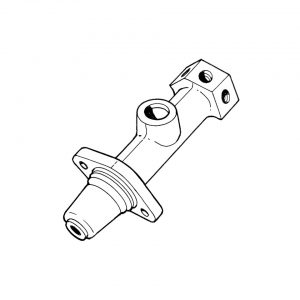 Master brake cylinder 19 mm single circuit - Under-carriage - Brakes - Master brake cylinder and parts  - TRW
