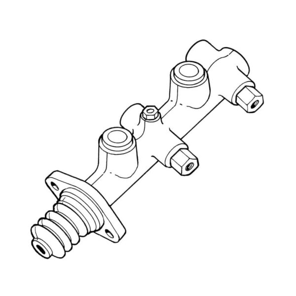 Master brake cylinderEnd splitwindow, without servo - Under-carriage - Brakes - Master brake cylinder and parts  - ATE