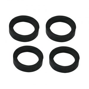 Rubber between suspension arm and axleset of 4 - Under-carriage - Front suspension - Front axle beam  Beetle,  Karmann Ghia -07/65 original (XView 4-04)  - Generic