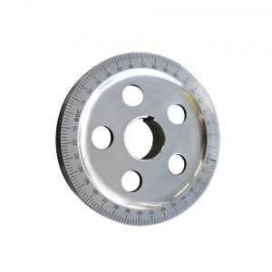 Pulley with degree, black - Engine - Lower block - Original crankshafts and parts (XView 5-01)  - Generic