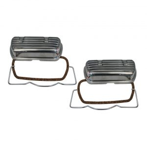 Aluminium valve cover with clips and rubbers, as pair - Engine - Lower block - Cilinder heads (XView 5-04)  - Generic