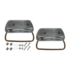 Aluminium valve cover with screws, mounting kit and rubbers, as pair - Engine - Lower block - Cilinder heads (XView 5-04)  - Generic