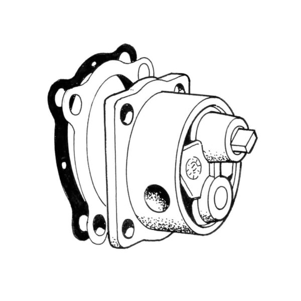 Oil pump stock style, Aluminum, Schadek - Engine - Oil circuit - Aluminium oil pump  - Generic