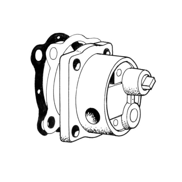 Oil pump heavy duty 71- (Alu) Brosol - Engine - Oil circuit - Aluminium oil pump  - Generic