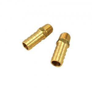Brass barbed fittings for Maxi oilpump, as pair - Engine - Oil circuit - Maxiflow oil pump  - Generic