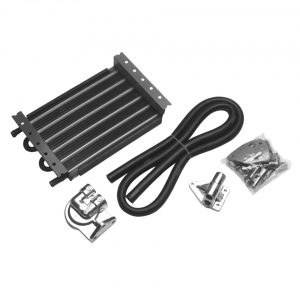 Oil cooler kit with 6 tubes20 x 31 x 6 cm - Engine - Oil circuit - Supplementary oil cooler  - Generic