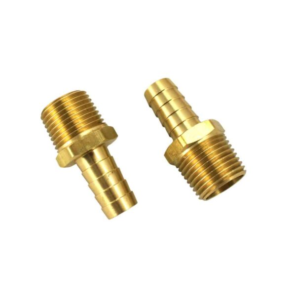 1/2 inch Brass barbed fitting for external oilcooler, par pair - Engine - Oil circuit - Supplementary oil cooler  - Generic