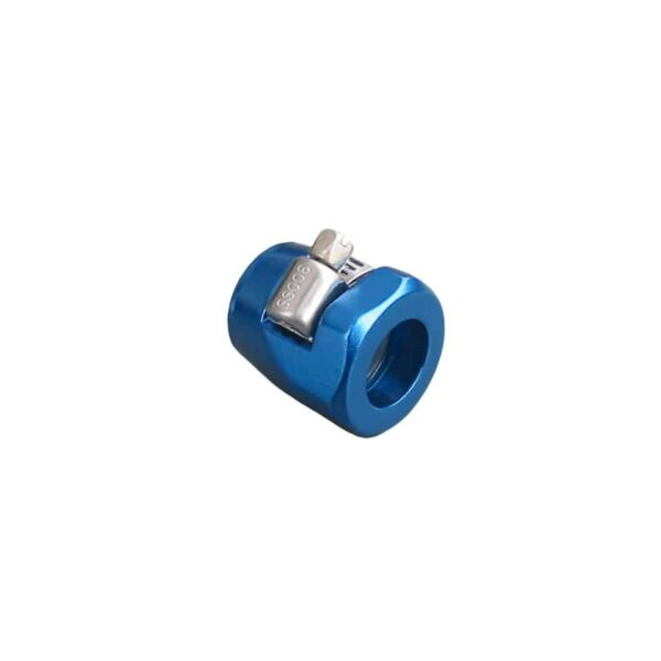 Blue clamp, oil line - Engine - Oil circuit - Oil pipes  - Bugpack