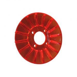 Pulley cover, red - Engine - Pulley and loading circuit - Generator pulley cover  - Generic
