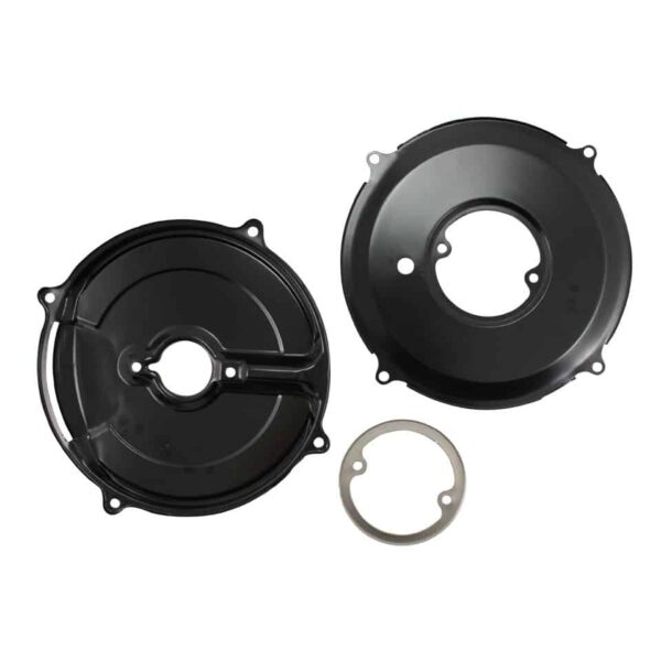 Backing plate kit generator, black, 3 pieces - Engine - Pulley and loading circuit - Backing plate  - Generic