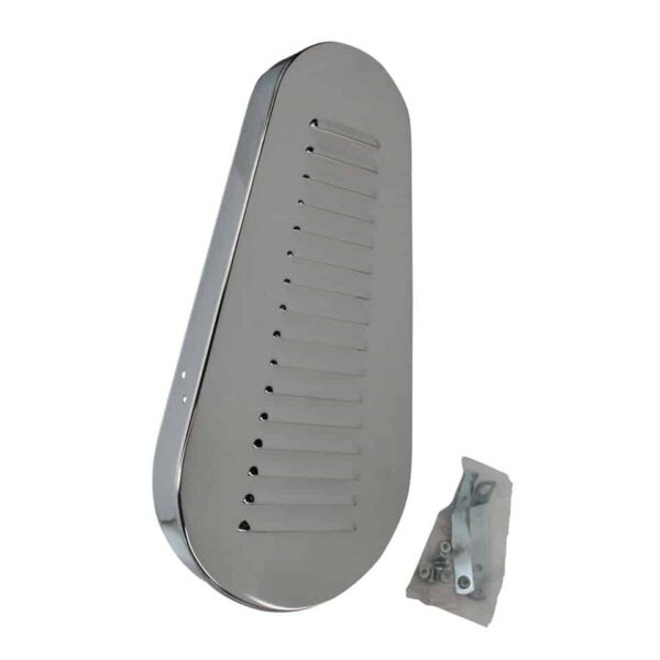 Pulley guard, with louvers - Engine - Pulley and loading circuit - Chrome pulley guard  - Generic