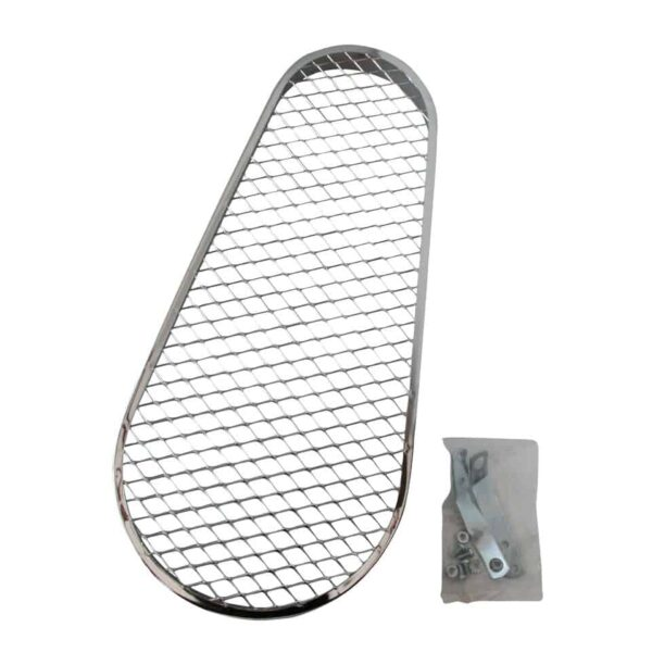 Pulley guard, with grills - Engine - Pulley and loading circuit - Chrome pulley guard  - Generic