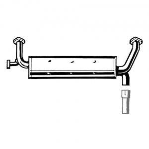 Exhaust injectiemotor to replace stock muffler - Engine - Exhaust and accessories - Stock style exhausts  Beetle and Karmann Ghia  - Generic