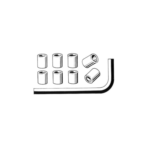 Hex nuts for exhaust (8 pieces + key) - Engine - Exhaust and accessories - Gasket and accessories for exhaust  - Generic