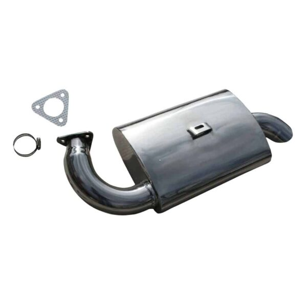 Exhaust muffler Fatboy for #3270Polished S/S - Engine - Exhaust and accessories - Exhaust muffler Fatboy  - Generic
