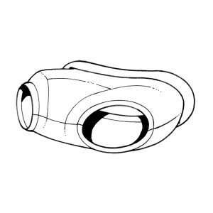 Rubber between horn and body part in the nose panel, each - Exterior - Body part rubbers - Rubbers Karmann Ghia (XView 1-16)  - Generic