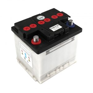 Battery, positive pole left, Type 2 - Electrical section - Switches and apparatuses - Batteries  - Generic