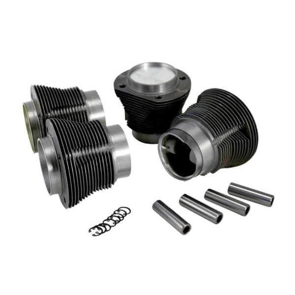 Piston and cylinder kit, cast, upper 90,00 mm - lower 87,00 mm - Engine - Lower block - Cilinder/ piston kit Type 1, AA performance  - Generic