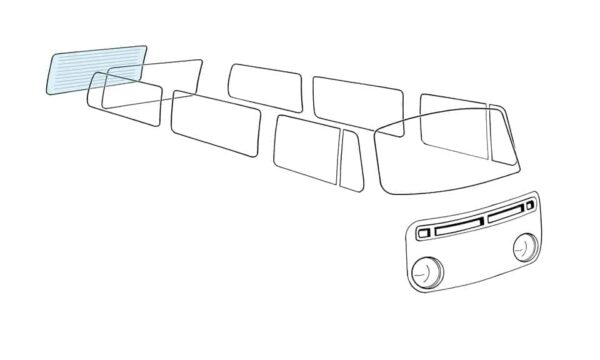 Rear window, heated - Exterior - Windows and accessories - Windows - for aircooled VW (XView 1-09)  - Generic