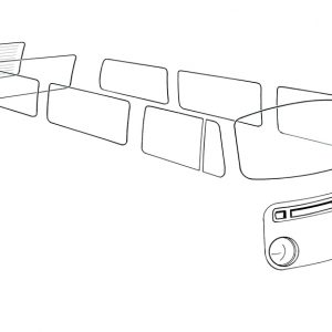 Ventwing window open left, green - Exterior - Windows and accessories - Windows - for aircooled VW (XView 1-09)  - Generic