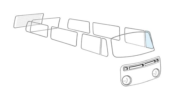 Ventwing window closed left - Exterior - Windows and accessories - Windows - for aircooled VW (XView 1-09)  - Generic