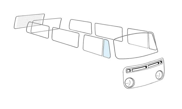 Ventwing window closed right - Exterior - Windows and accessories - Windows - for aircooled VW (XView 1-09)  - Generic