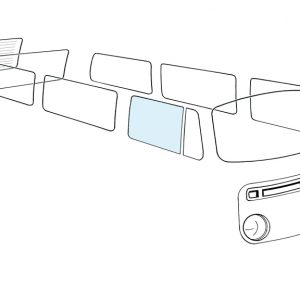 Doorwindow right - Exterior - Windows and accessories - Windows - for aircooled VW (XView 1-09)  - Generic