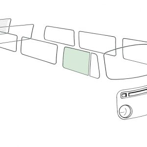 Doorwindow right, green - Exterior - Windows and accessories - Windows - for aircooled VW (XView 1-09)  - Generic
