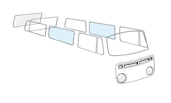 Side middle window L/R - Exterior - Windows and accessories - Windows - for aircooled VW (XView 1-09)  - Generic