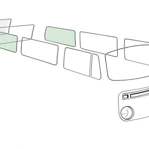 Rear side window L/R, green - Exterior - Windows and accessories - Windows - for aircooled VW (XView 1-09)  - Generic