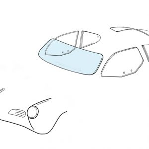 Windshield - KG coupé/convertible clear - Exterior - Windows and accessories - Windows - for aircooled VW (XView 1-09)  - Generic