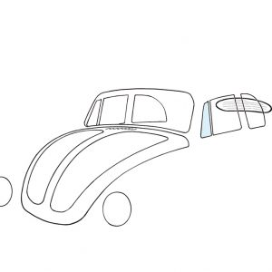 Ventwing window, left, convertible - Exterior - Windows and accessories - Windows - for aircooled VW (XView 1-09)  - Generic
