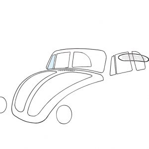 Ventwing window, right, convertible - Exterior - Windows and accessories - Windows - for aircooled VW (XView 1-09)  - Generic