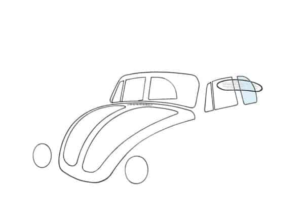 Rear side window, left, convertible - Exterior - Windows and accessories - Windows - for aircooled VW (XView 1-09)  - Generic
