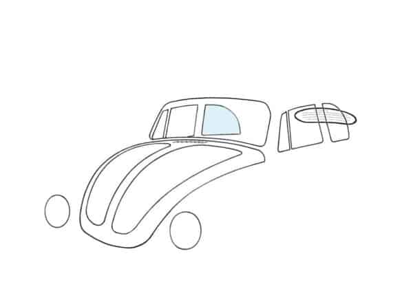 Rear side window, right, convertible - Exterior - Windows and accessories - Windows - for aircooled VW (XView 1-09)  - Generic