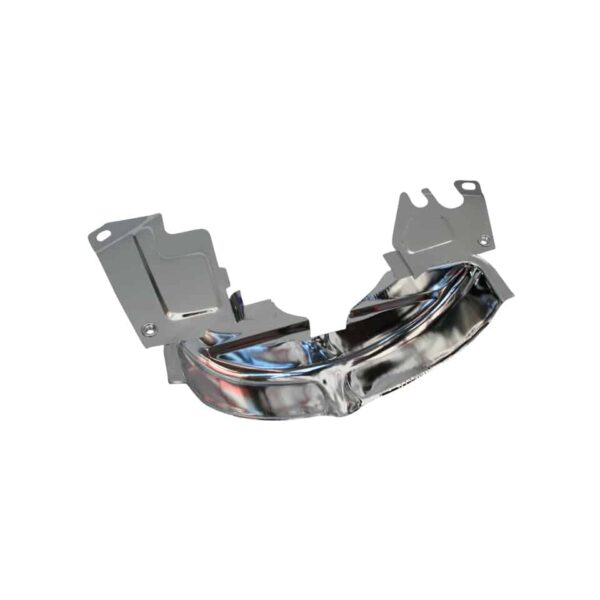 Chrome pulley cover, small - Engine - Engine cooling tin - Pulley cover - small type  - Generic