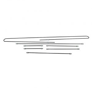 Brakeline kit, single circuit, original - Under-carriage - Brakes - Metal brake lines  - Generic